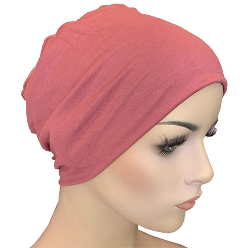 Donna Hat with Loop for Scarf - Bamboo - Rose