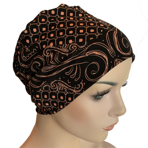 Donna Hat with Loop for Scarf - Chain Brocade