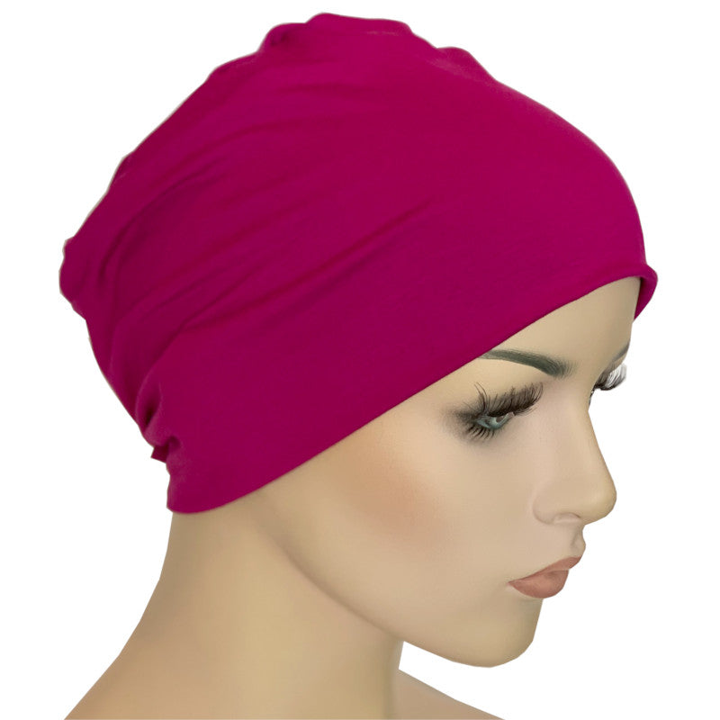 Donna Hat with Loop for Scarf - Bamboo - Magenta
