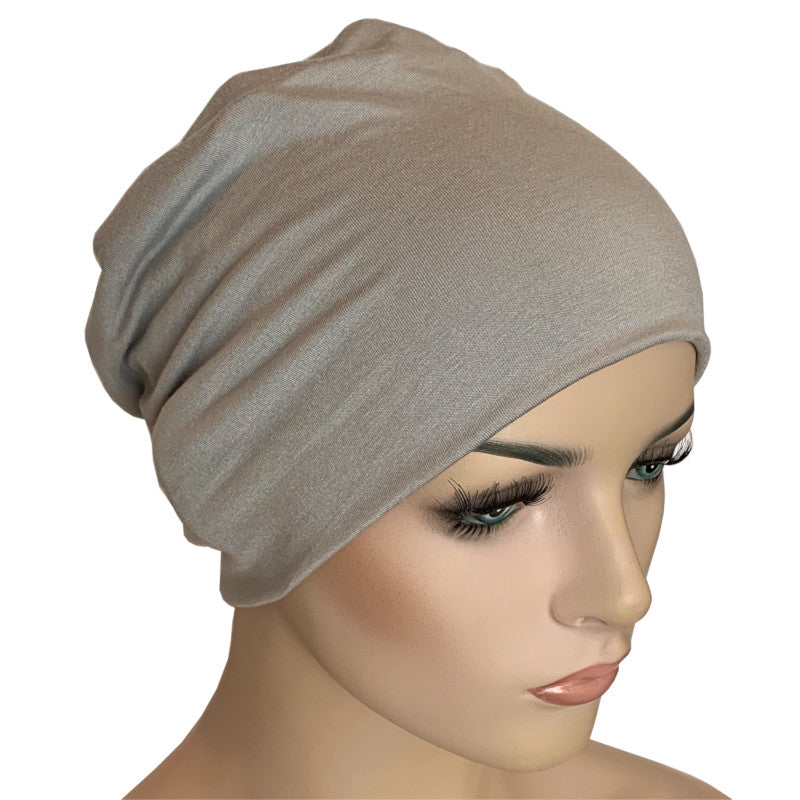 Donna Hat with Loop for Scarf - Bamboo - Pewter