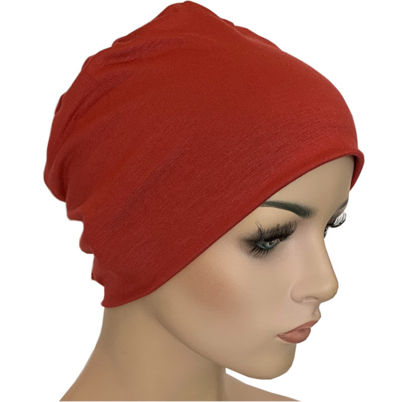 Donna Hat with Loop for Scarf - Bamboo - Pompei Red