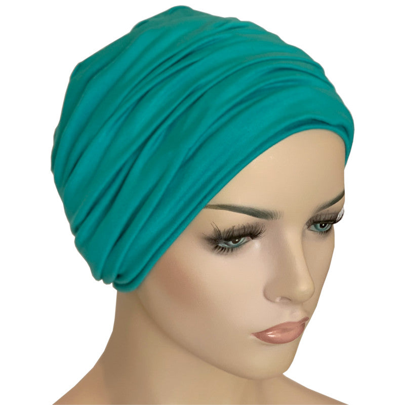 Donna Hat with Matching Headband - Jade Bamboo
