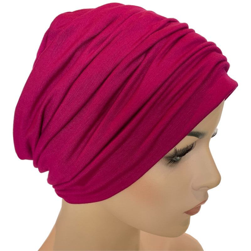 Donna Hat with Matching Headband - Magenta Bamboo