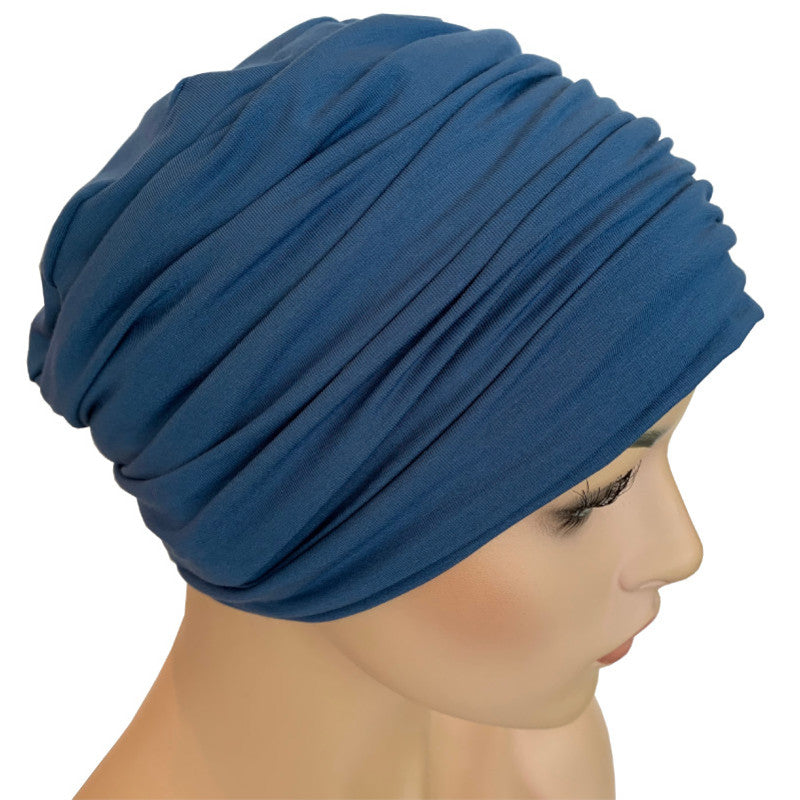Donna Hat with Matching Headband - Denim Bamboo