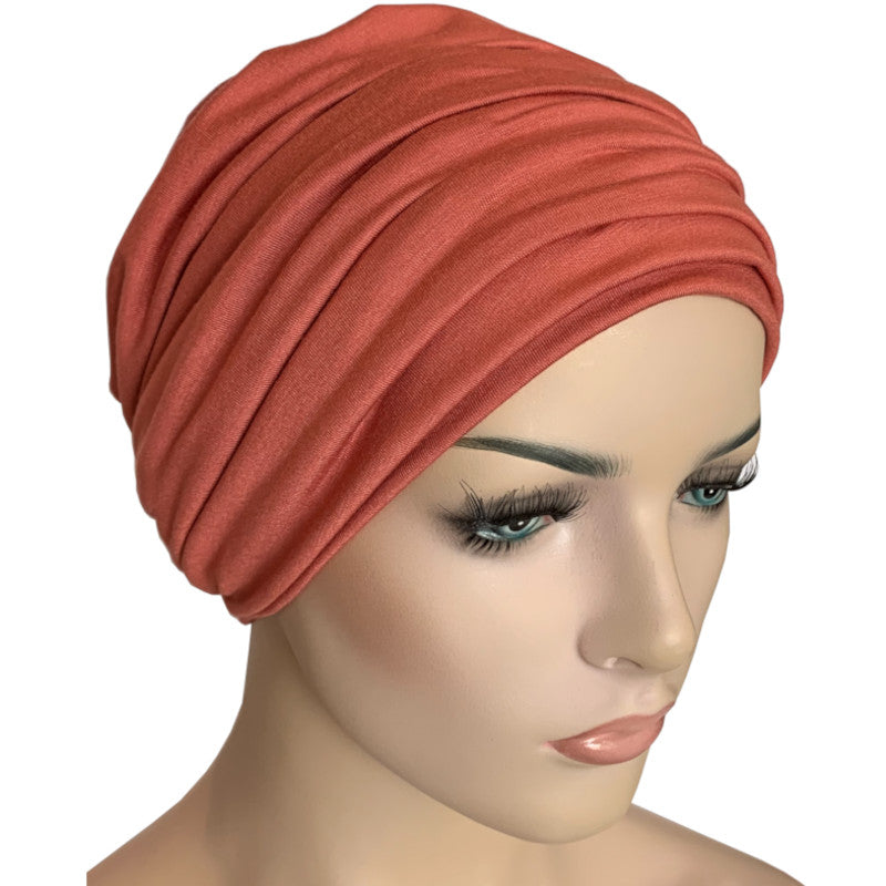 Donna Hat with Matching Headband - Peach Bamboo