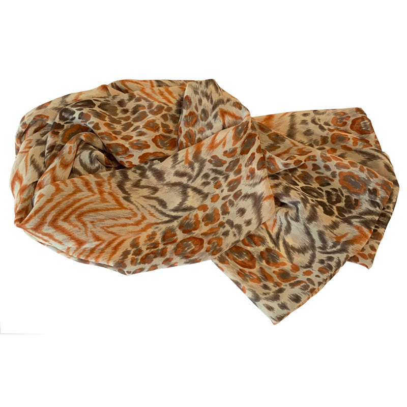 Donna Scarves - Ginger Cat Chiffon Scarf