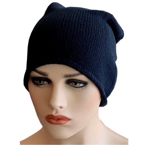 Fashion Beanies - Acrylic Knit - Navy