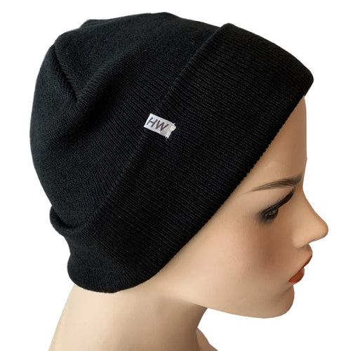 Fashion Beanies - Acrylic Knit - Black
