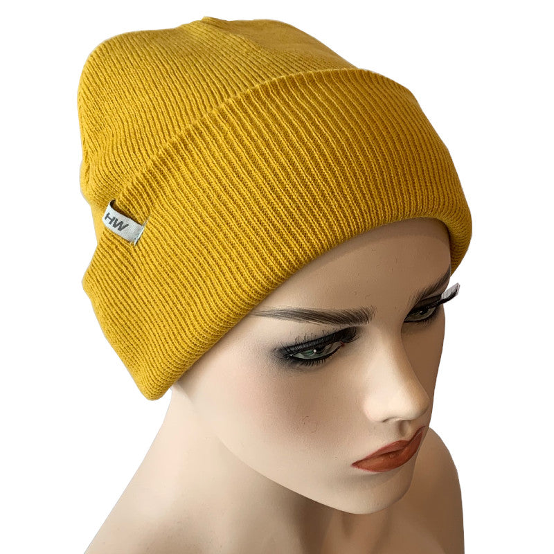 Fashion Beanies - Acrylic Knit - Gold