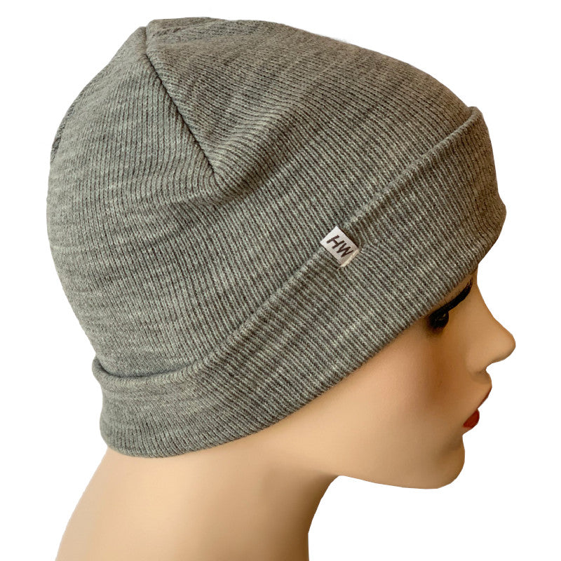 Fashion Beanies - Acrylic Knit - Light Grey