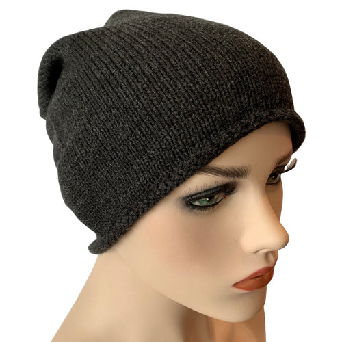 Fashion Beanies - Acrylic Knit - Charcoal