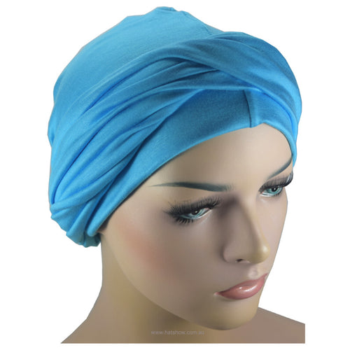 Headwrap Turban - Azure Blue