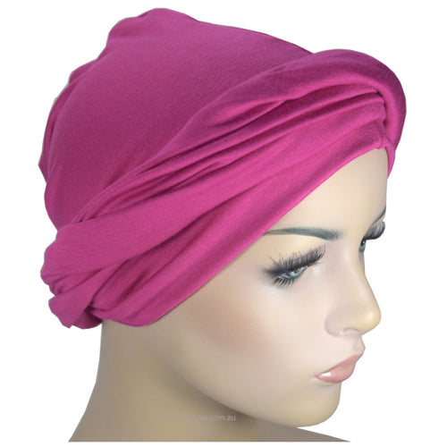 Headwrap Turban - Fuchsia