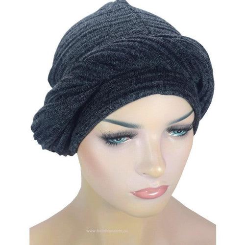 Headwrap Turban - Charcoal Knit