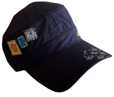 Sun Hats for Boys and Girls - Peaked Cap - Navy or Beige