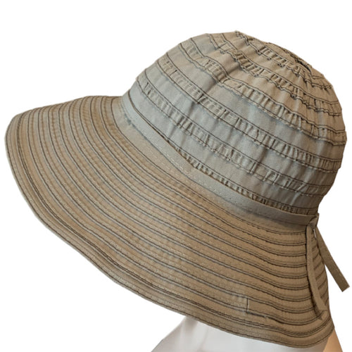 Sun Hats - Medium Brim - Ribbon Braid - Beige