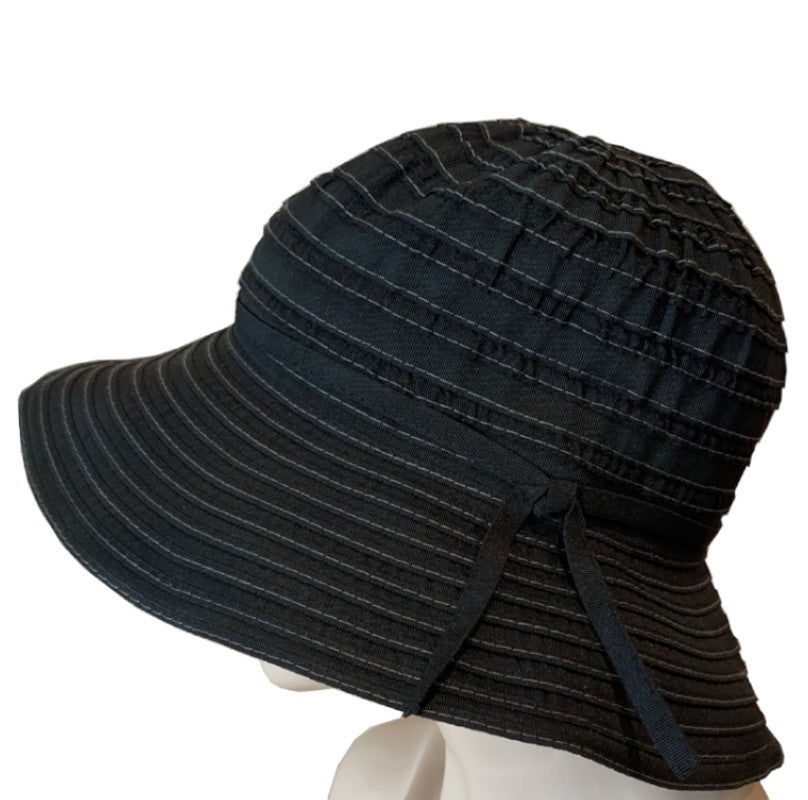 Sun Hats - Medium Brim - Ribbon Braid - Black