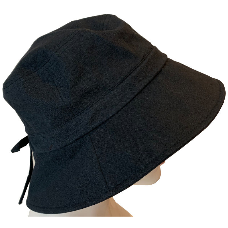 Sun Hats - Cotton - Medium Brim - Black