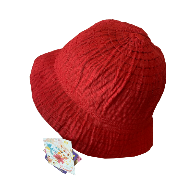 Sun Hats - Short Brim - Red