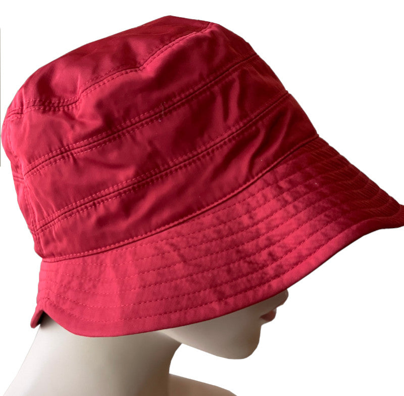 Rain Hat - Cloche Style - Red