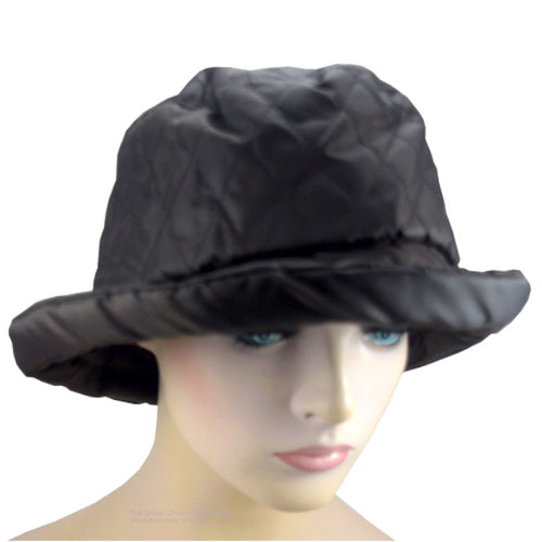 Rain Hat - Quilted Cloche - Chocolate