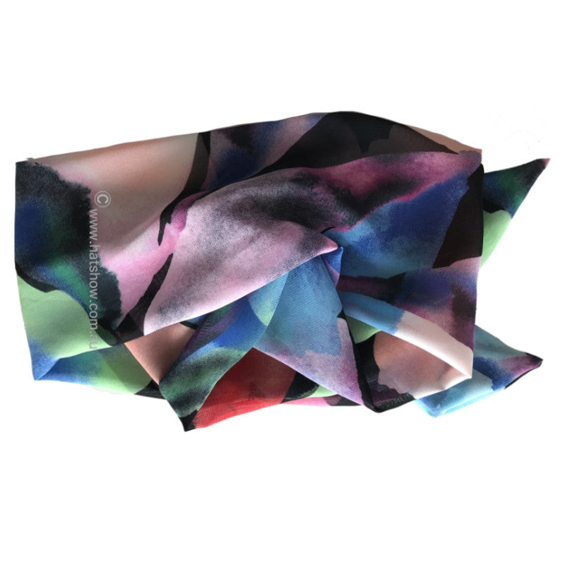 Shaped Scarf - Rainbow Rocks - Chiffon