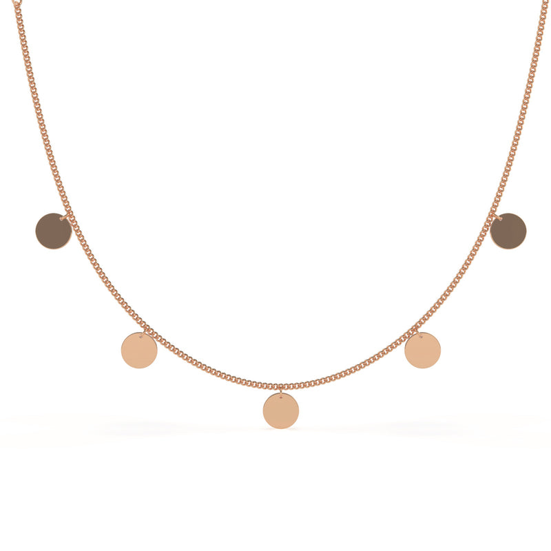 Viktoria Rose Gold Coin Necklace