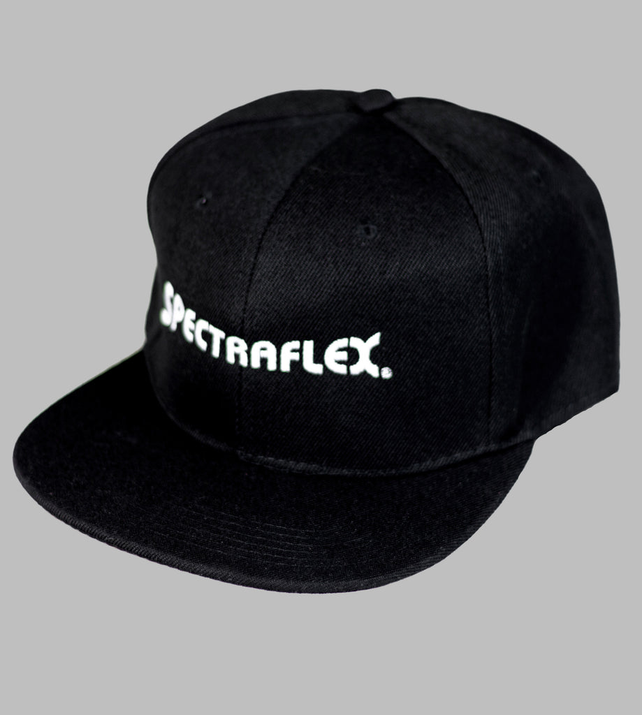 BK Cap Flat Bill Snapback Hat with Same Color Underbill (Black) front logo 21fcd3aba20