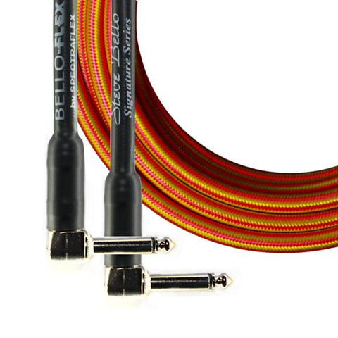 BelloFlex Guitar Cable - Dual Right Angle Plugs