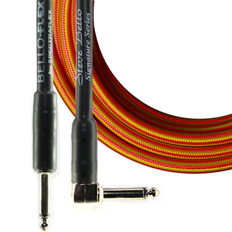 BelloFlex Guitar Cable - Straight Plug-Right Angle Plug