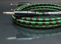 Camo Guitar Cable - Dual Straight Plugs