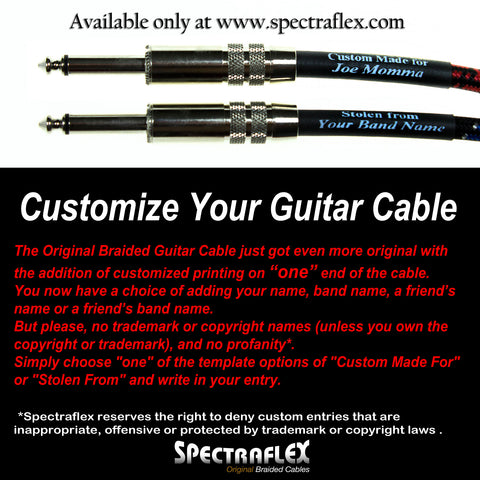 Custom Label Original Series Braided Guitar Cable - Straight Plug-Right Angle Plug