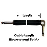 Standard Series Braided Guitar Cable - Straight Plug - Right Angle Plug