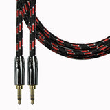 Aux-Flex Braided Series Stereo Dual Straight Plugs