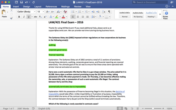 new law 421 study guide content for 2016