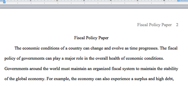 Individual Essay in ECO 372