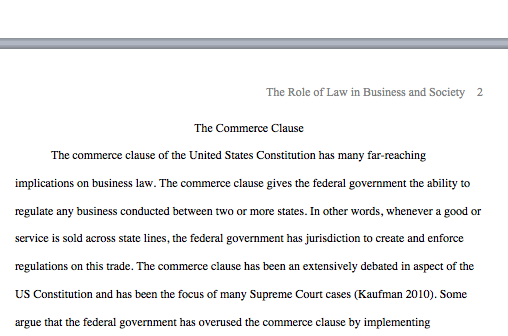 dormant business clause composition answer