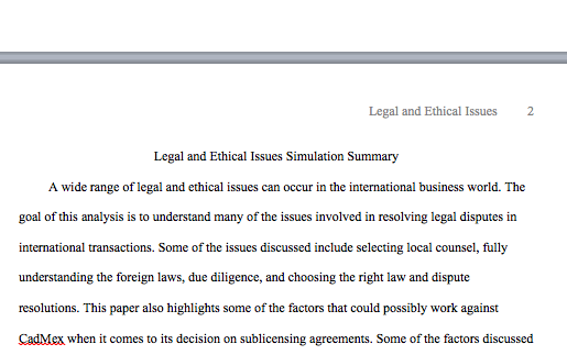 addressing international legal and ethical issues introduction essay Complete the addressing international legal and ethical issues simulation write a 350-word summary in your paper, answer the following questions: what are the issues involved in resolving legal disputes in international transactions.