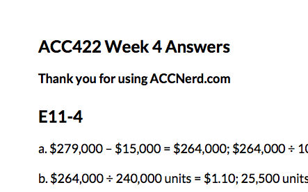ACC 422 Week 4 Exercises - (E11-4, E12-16, P12-1)