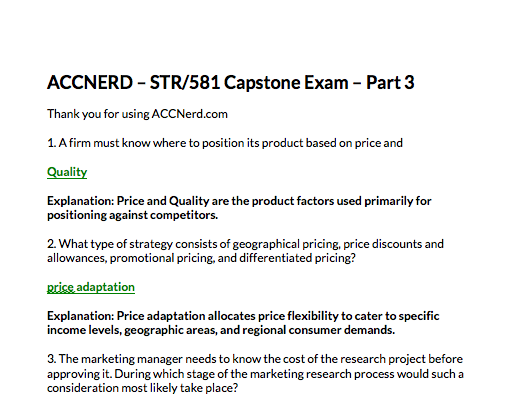 STR 581 final exam capstone part 3