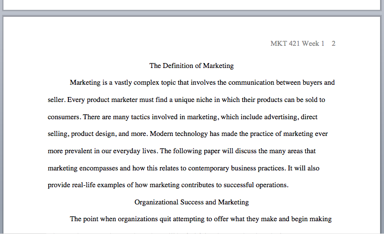 mkt 421 defining marketing paper essay Hcs 433 week 3 functionality paper  february 2, 2016 | leanbulkcom  - we assist them in students a wide range of sample papers, guidelines, research materials, etc.