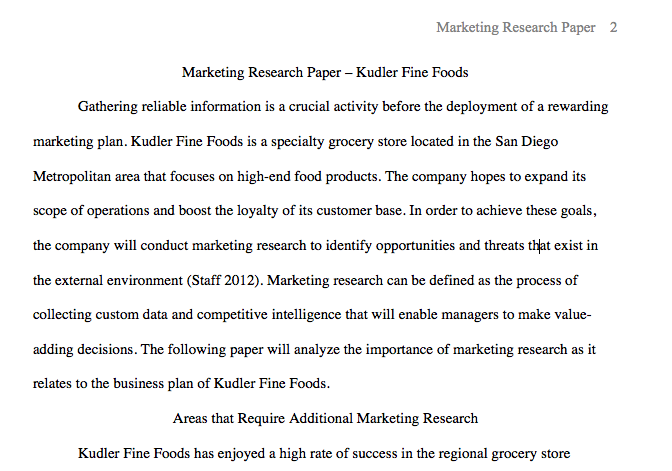 kudler fine foods marketing research essay Kudler fine foods virtual organization essay writing service, custom kudler fine foods virtual organization papers, term papers, free kudler fine foods virtual.