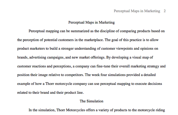 MKT 421 Week 4 - Perceptual Maps in Marketing Simulation Summary