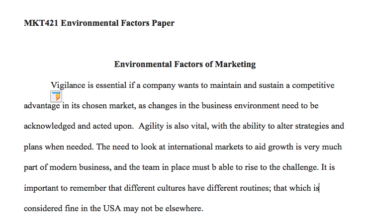 environmental factors select an organization with which you are familiar that conducts both domestic Impact of economic environment on the environment of an organization has got there are a number of factors both internal as well as external which.