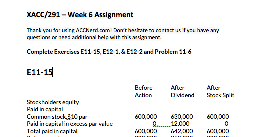 xacc 291 week 5 View accnerdcom,acc nerd provides accounting homework help for online students and final exam study guides.