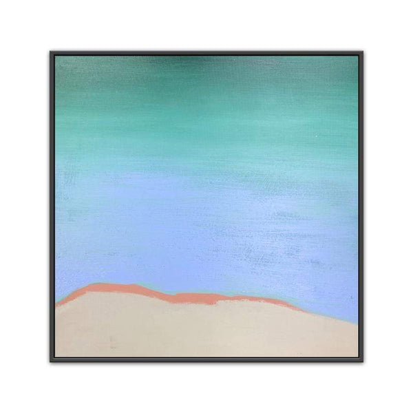 Aqua Abstract Oil Painting