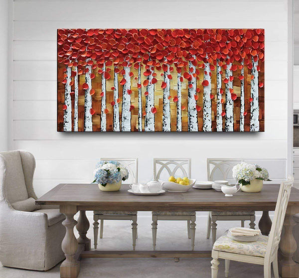 Crimson leaves Oil Painting
