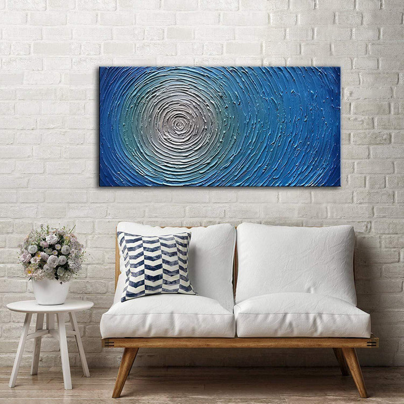 Swirling Maze Oil Painting