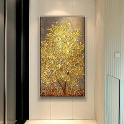 Golden Wood Oil Painting