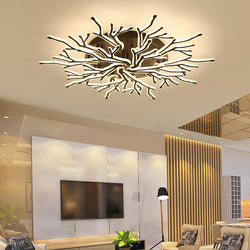 Black Finish Modern Led Chandelier